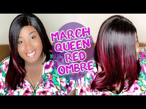 One of My TOP 5 Favorite / MarchQueen Red Ombre Straight Hair Review