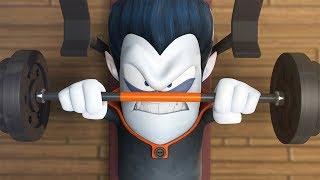 Funny Animated Cartoon   Spookiz   Do You Even Lift Bro?!   스푸키즈   Cartoon For Children
