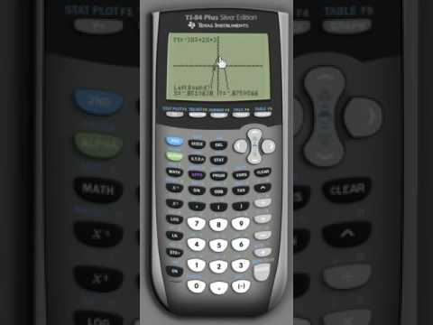 Using a graphing calculator to find the x intercepts and vertex of a quadratic function