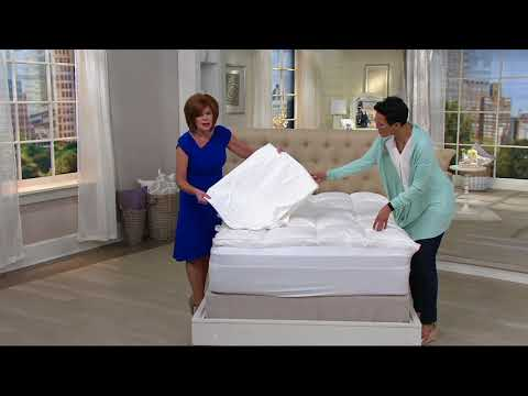 Northern Nights 400TC Ultra Feather Bed w/ Zip and Wash Cover on QVC