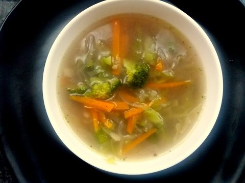 Vegetable Soup For Low Cholesterol (Diet) | Easy Vegetable Soup At Home