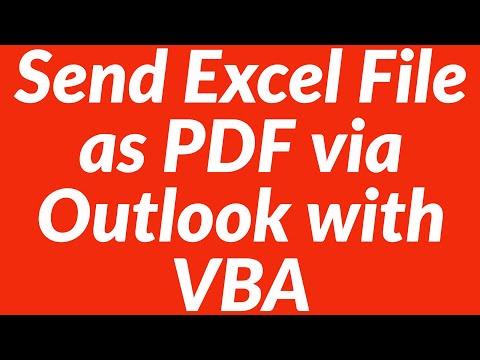 Send Excel file as PDF automatically via Outlook