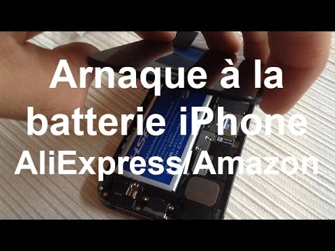 Arnaque batterie iPhone sur AliExpress et Amazon - (Battery iPhone 5 2800 mAh HSA & Gold)