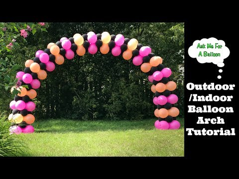 Balloon Arch Decoration - Step By Step Tutorial