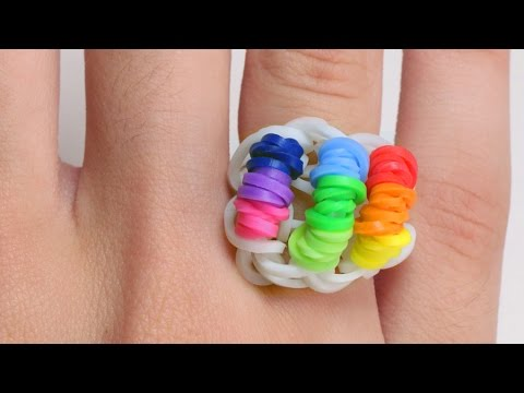 Rainbow Loom English - LOOM RING - Loom Bands, easy, how to, DIY