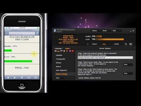 Satellite finder + Mobile phone or iPhone