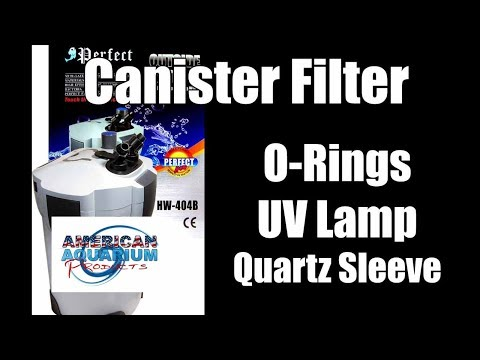SunSun Canister- How to change a o-rings, uv lamps, quartz sleeve