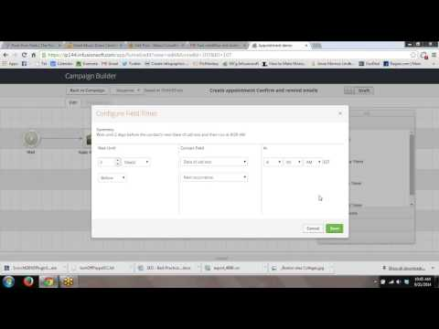 How to create an appointment in Infusionsoft using Campaign Builder