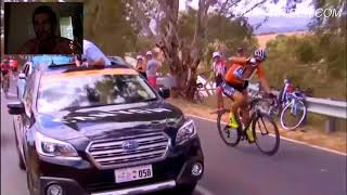 Peter Sagan DROPPED by Ritchie Porte @ Tour Down Under  @10wkg