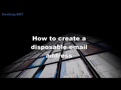 How to create a disposable email address