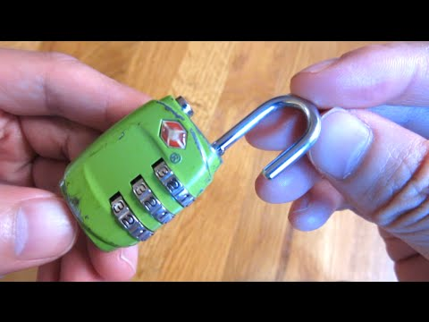 TSA Luggage Lock - How to Set and Reset Combination Instructions