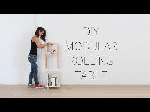 DIY Modular Rolling Table