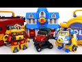 Download Video Transforming Police Car Poli Fire Truck Roy Robocar Rescue Station & Transforming Base Playset 3GP MP4 FLV