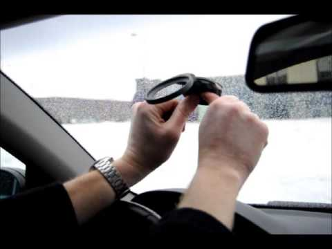 How to install TomTom EasyPort Mount to Car Windshield Window