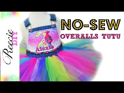 How to make a NO-SEW Overalls Tutu Dress