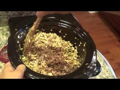 Making Homemade  Granola Cereal