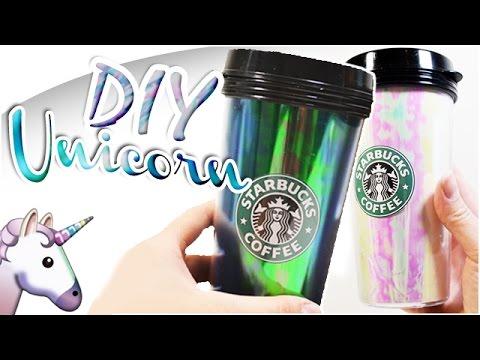 DIY STARBUCKS UNICORN FRAPPUCCINO TUMBLERS  | Gobelet Starbucks licorne