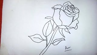 Adım Adım Gül çizimi çok Kolay Nasıl Gül çizilir How To Draw A