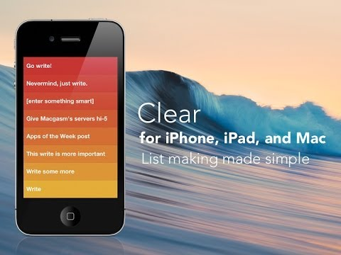 Clear for iPhone, iPad, and Mac - List Making Made Easy
