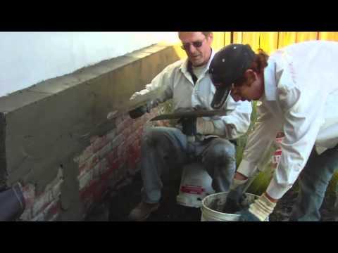 Rendering or plastering over bricks or cinder block walls