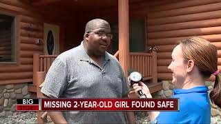 Police: Missing 2-year-old girl walked up to porch located 1/4-1/2 mile from campsite
