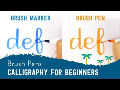 Brush Pen Calligraphy for Beginners - 'DEF' Brush Lettering | Stationery Island