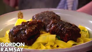 Slow Braised Beef Cheeks with Pappardelle | Gordon Ramsay