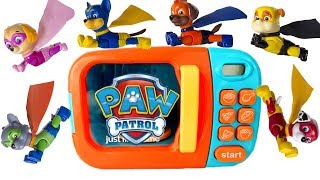 Paw Patrol Becomes Superhero Super Pups in Magical Microwave Magic Play Doh   Fizzy Fun Toys