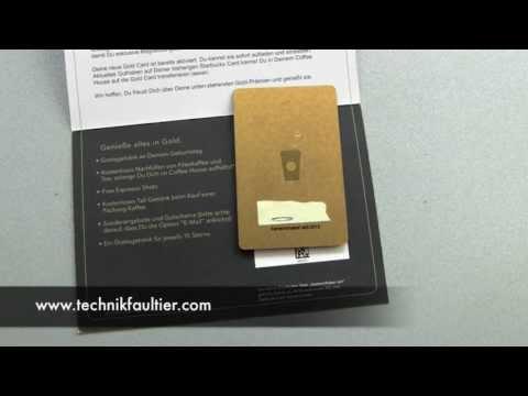Meine Starbucks Gold Card ist da