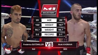 Frederico Gutzwiller vs Akaki Khorava, M-1 Challenge 82