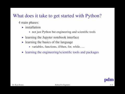 Python for Engineers Part 1: Overview