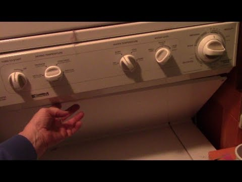 Kenmore stackable washer/dryer doesn't cycle or advance, not spinning?  Try THIS !