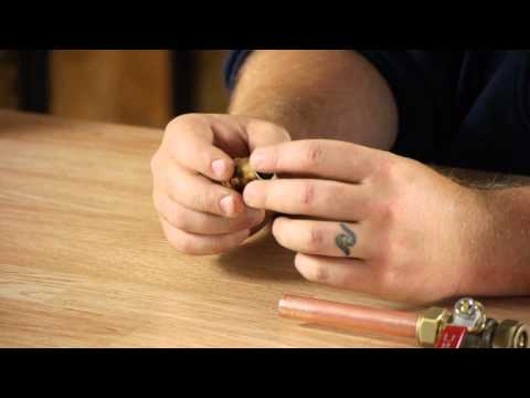 How to Replace Copper Tubing : Copper Pipes & Fittings