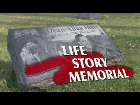 Photo Engraved Black Granite Headstone Memorials