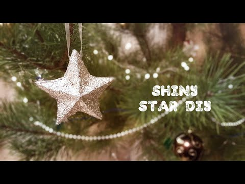 SHINY 3D STAR out of recycled cardstock & aluminum foil / Объемная звезда
