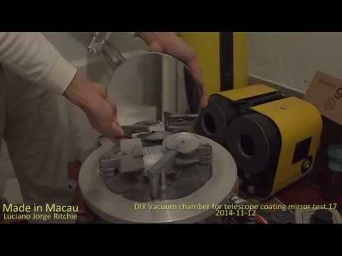 DIY Vacuum chamber for telescope coating mirror 02