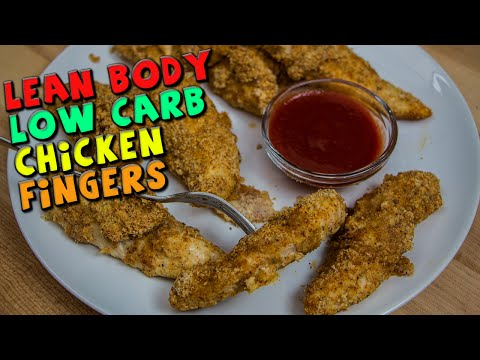 Lean Body LOW CARB Chicken Fingers Recipe