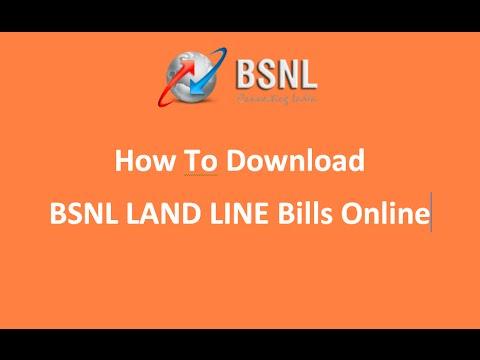BSNL Land Line Bills  download Online 2015