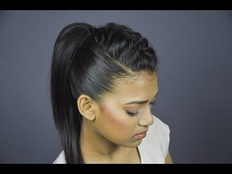 FRENCH BRAIDED PONYTAIL | Hairstyle for Medium to Long Hair | Raisa Naushin