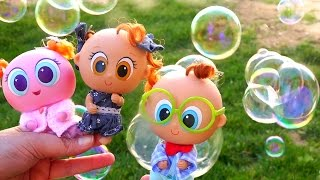 Toys for Kids Distroller Neonate Babies - Family Fun Playing With Soap Bubbles With My Toy Babies