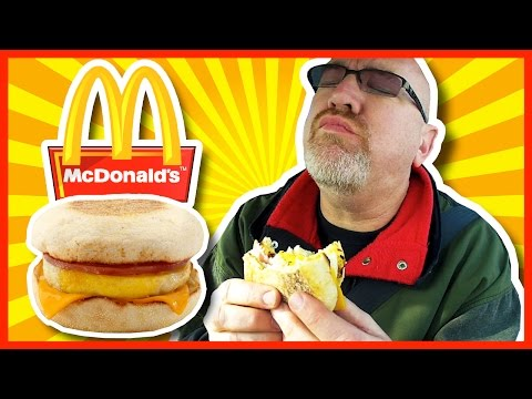 McDonald's ♥ Egg McMuffin Breakfast ♥ with Hash Browns & Coffee