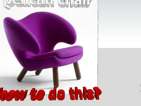 Pelican chair. Sketchup Model. (Alvis)