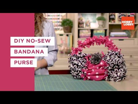 No-Sew Bandana Purse