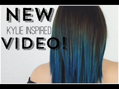 DIY Kylie Jenner Inspired dark root to teal ombre || Bianca Gover