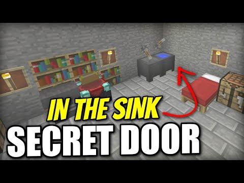 Minecraft Xbox - SECRET DOOR [ In a SINK ] Redstone Tutorial - PE / PS4 / PS3 / Switch