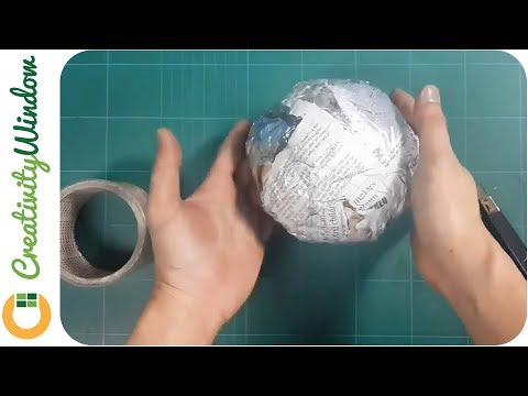 DIY Paper Ball for Artificial Pomander and Topiary