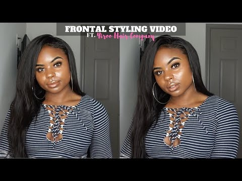 HOW I STYLE AND MAKE MY LACE FRONTAL WIG LOOK NATURAL   YIROO HAIR REVIEW (PART 2)