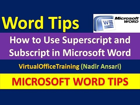 Word Tips : How to Use Superscript and Subscript in Microsoft Word : Useful Tricks in Word