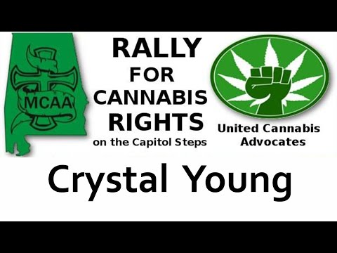 Crystal Young speaks at the rally for Cannabis Rights September 8, 2016