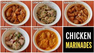 5 EASY CHICKEN MARINADES   Chicken Marination !! 🇮🇳